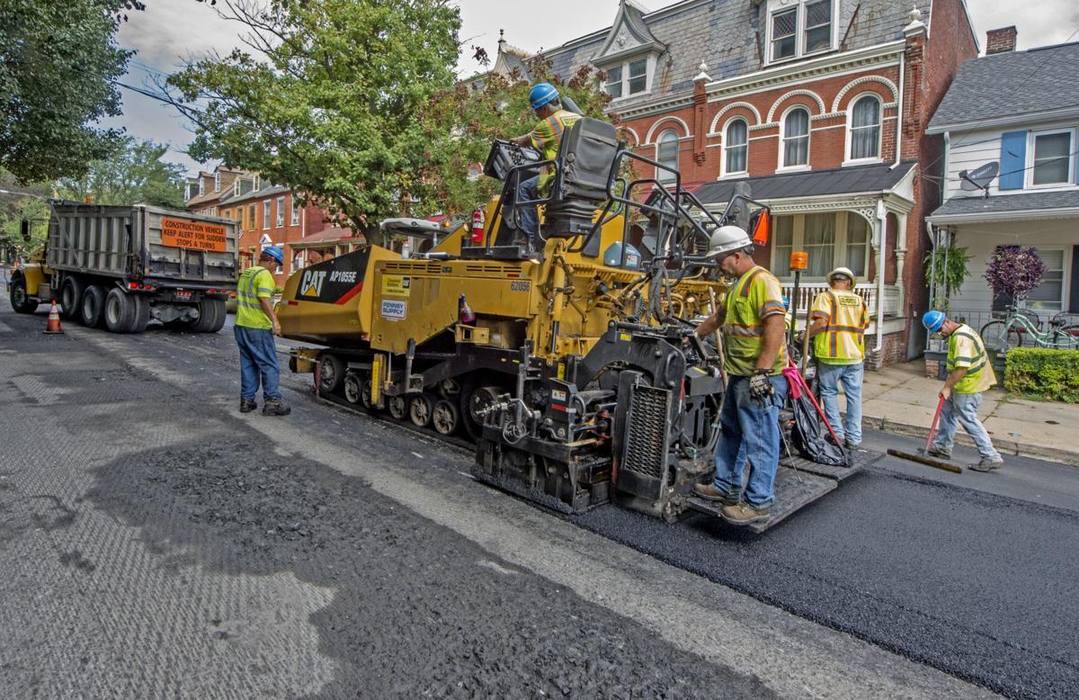 Walnut Street paving
