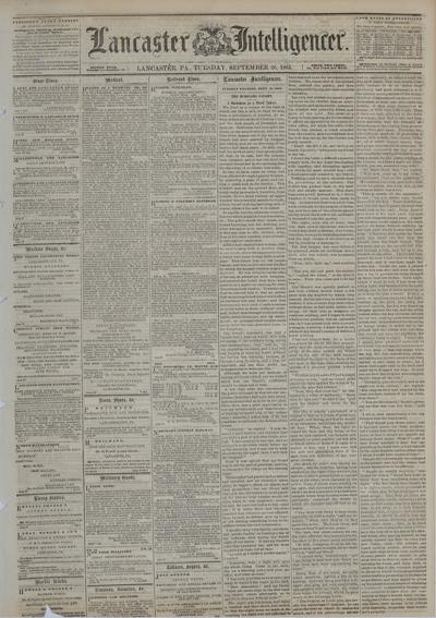 Front page - 1865