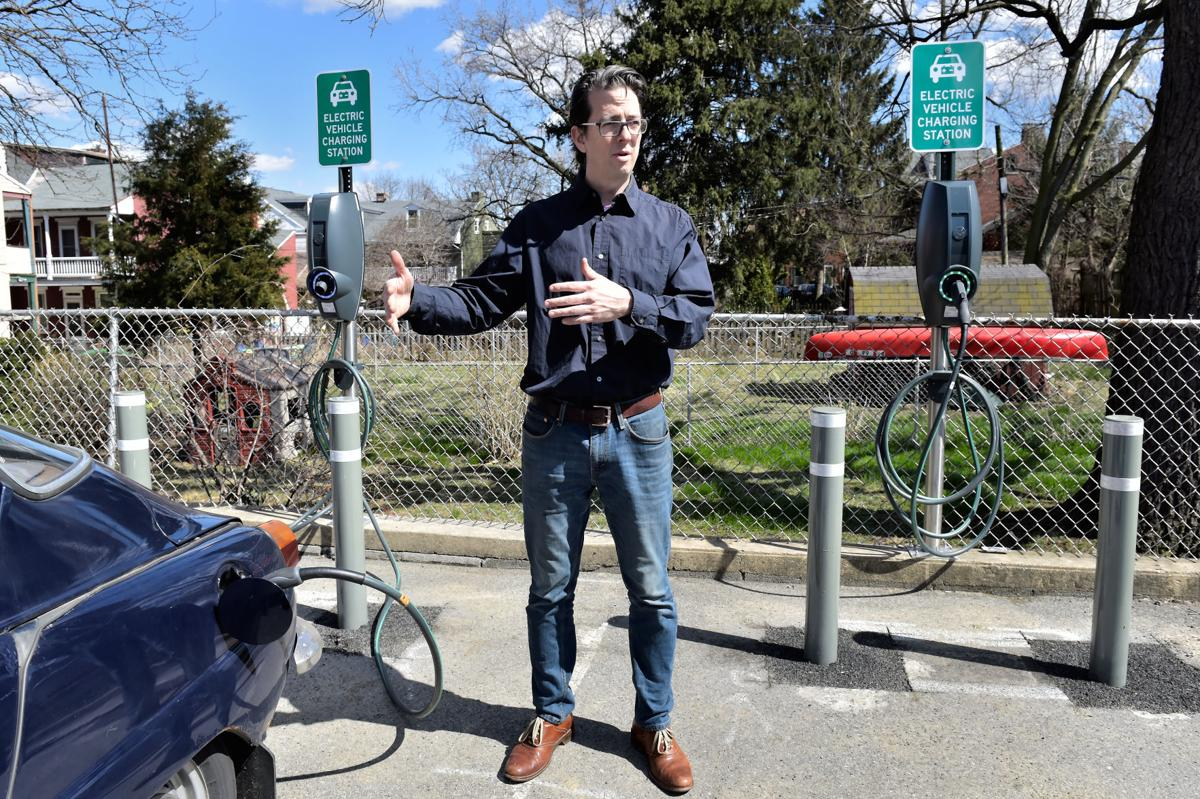 East Chestnut St  Mennonite Church constructs EV charging