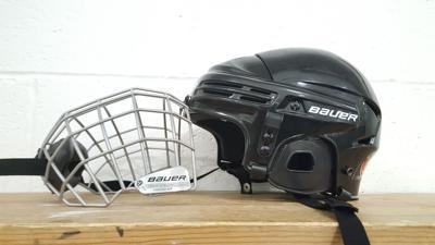 Ice hockey helmet logo