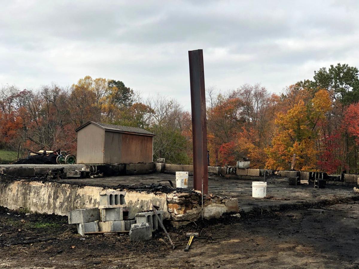 Hemp fire Eden Township
