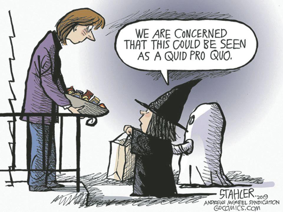 Image result for quid pro quo cartoon