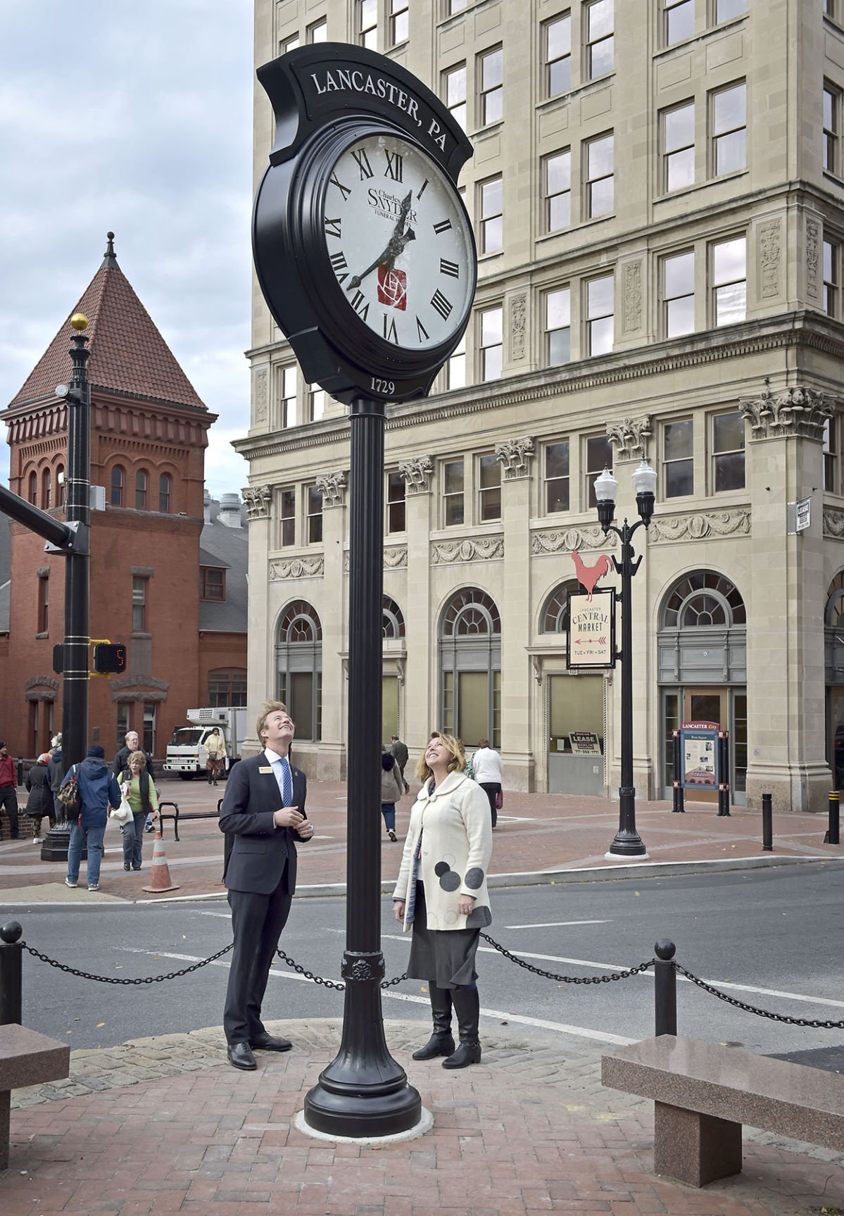 Charles Snyder Funeral Home donates Penn Square clock to Lancaster