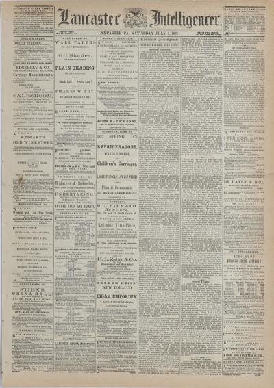 Front page - 1873