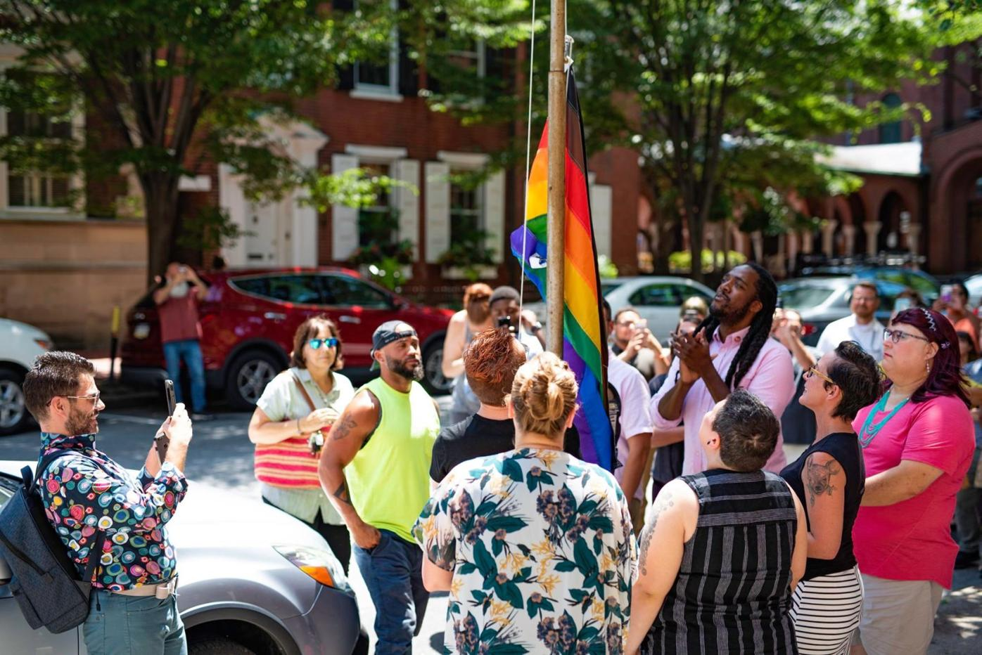 LGBTQ+ Coalition flag raising