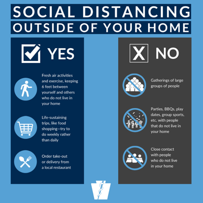 social distancing outside of home pa doh