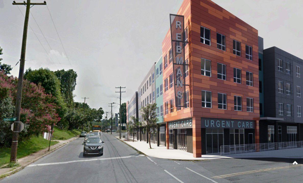 Rebman's redevelopment rendering