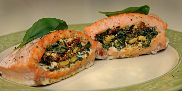 Spinach Stuffed Roast Salmon Recipes — Dishmaps