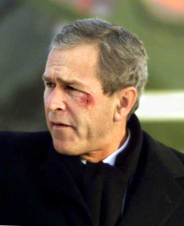 George W. Bush - pretzel