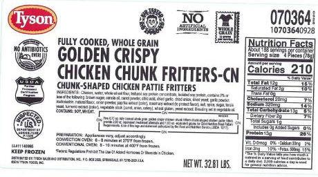 Tyson Foods chicken recall 2