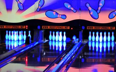 Rocky Springs glow bowling