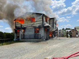 Barn fire pequea township 2