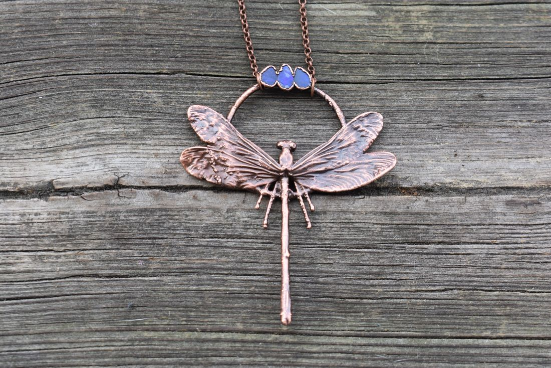 40 elephants Copper Electroformed Dragonfly Necklace by LoMo Studio Handcrafted Jewelry.png