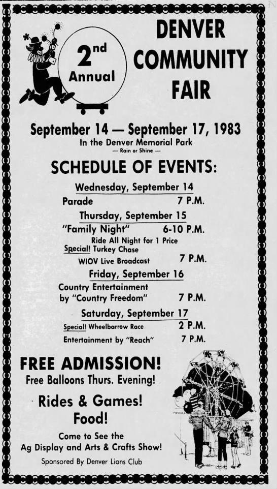 Denver Fair 1983