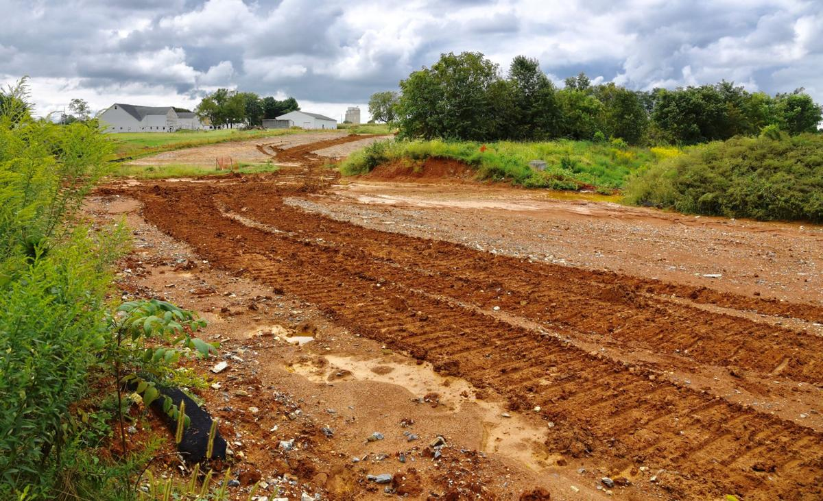 Did bulldozed detention basin on pipeline path cause Mount