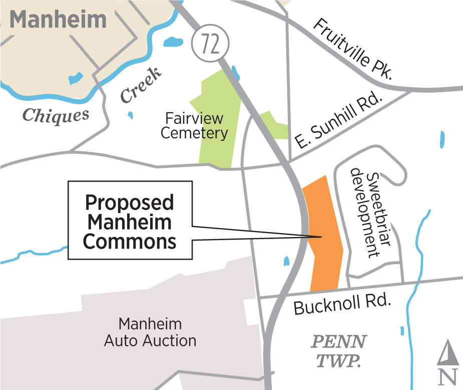 $30M In New Apartments, Stores Proposed Near Manheim Auto