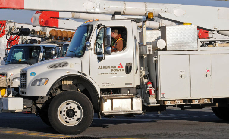 Power crews gather at Park City for Lancaster County power outages