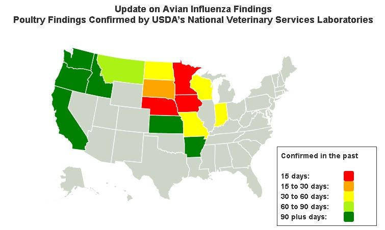 Avian Flu At PAs Doorstep Wild Geese Caught In Michigan Tested - Map of us flu outbreak