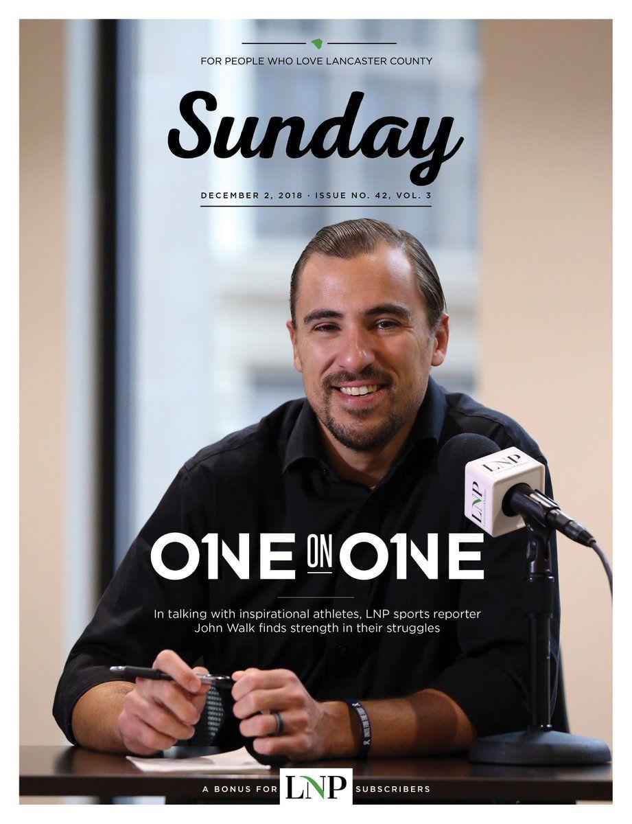Sunday magazine cover with John Walk