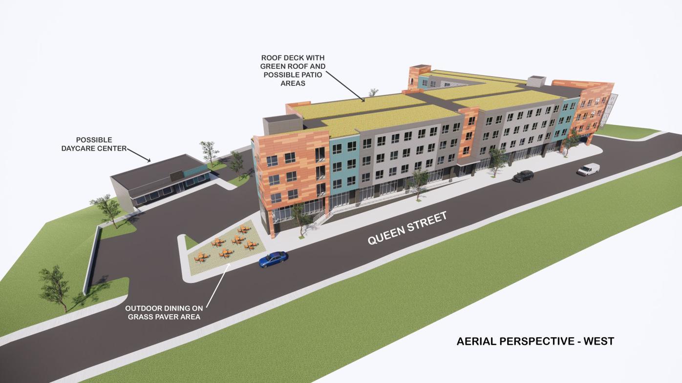 Rebman's redevelopment aerial