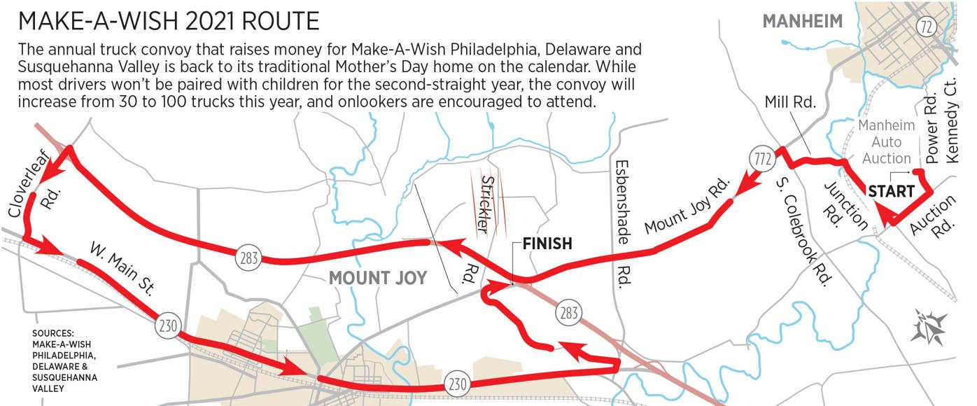 Make-A-Wish Truck Route