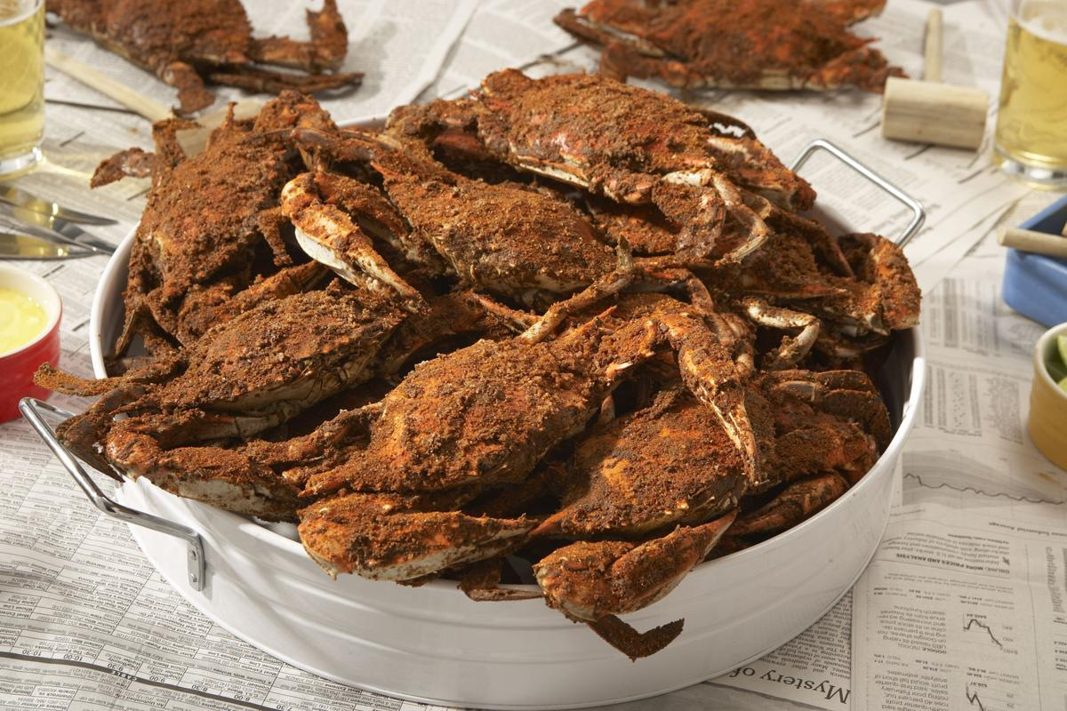 Old Bay with steamed crabs