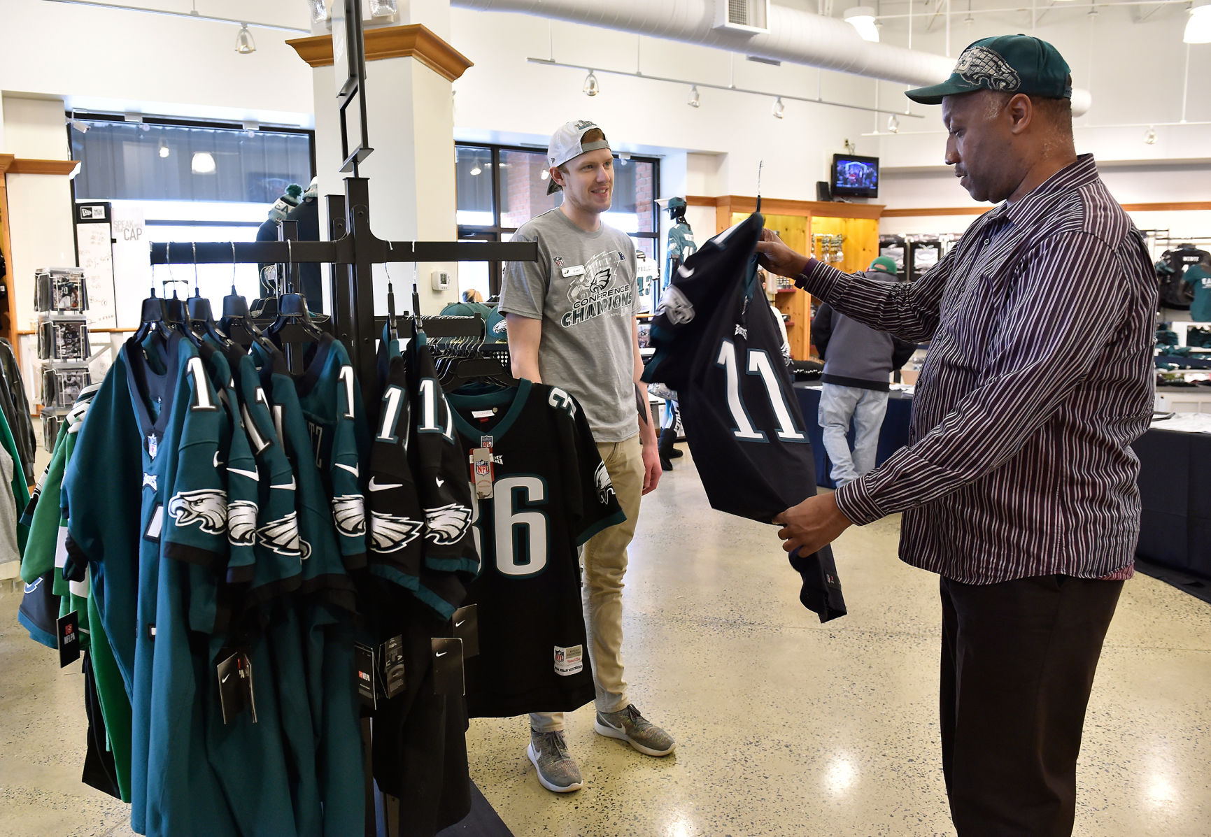 Fans stock up on Eagles gear in Lancaster County to celebrate