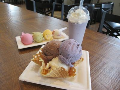 ice cream at Fox Meadows