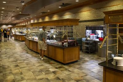 """Shady Maple """"touch-less"""" buffet"""