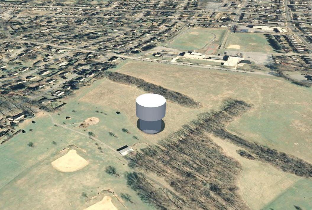Proposed water tower - rendering
