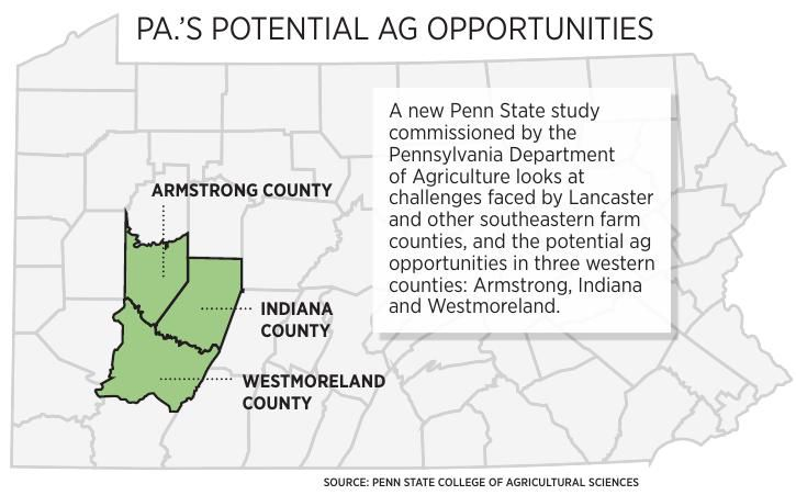 western Pa. farm counties