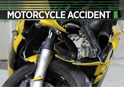 Motorcycle crash logo