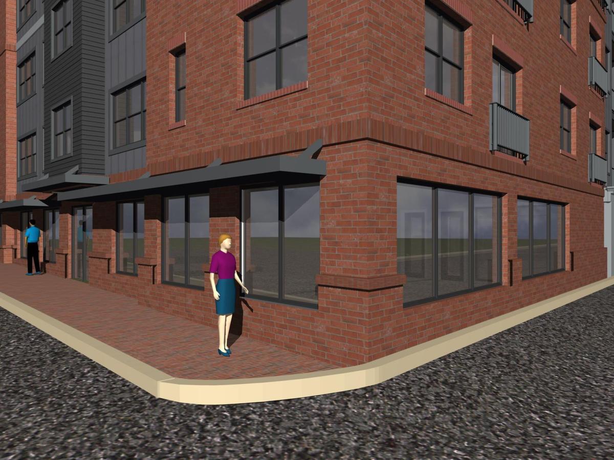 Locust Street apartment building view 2