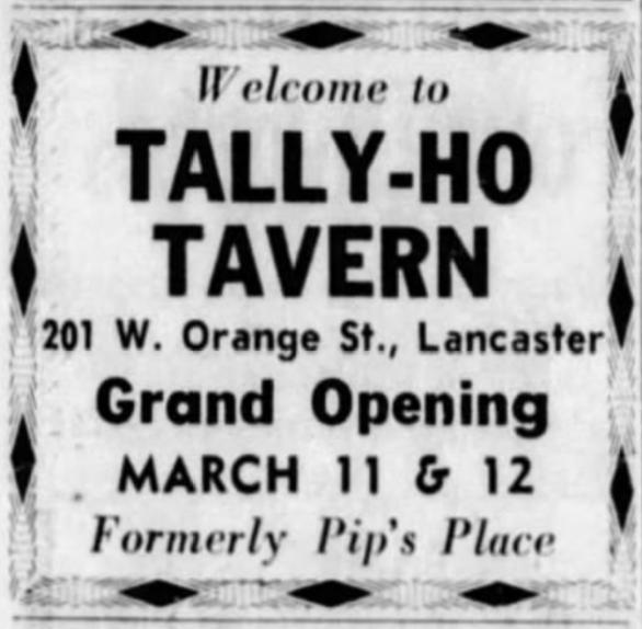 Tally Ho opening ad, 1966
