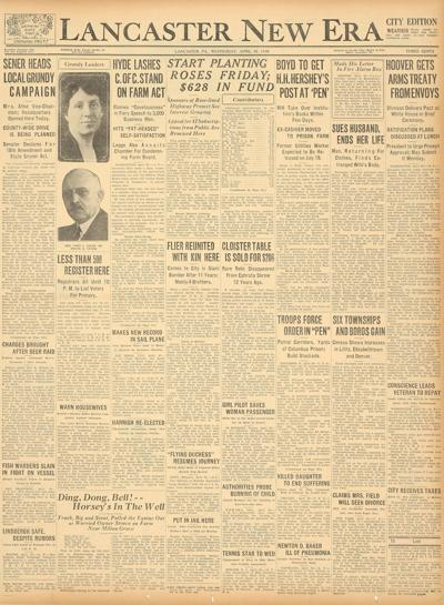 front page - 1930