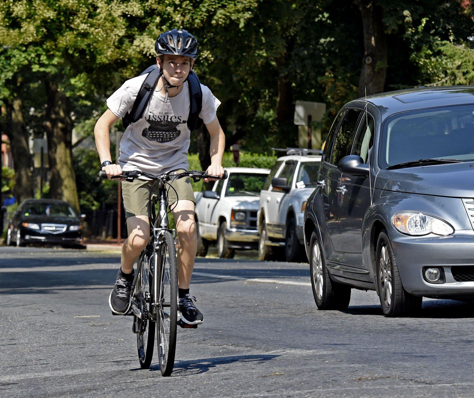 Lancaster bicycling bike lane bicycle lane