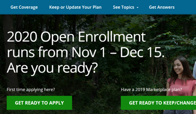affordable care act open enrollment 2020