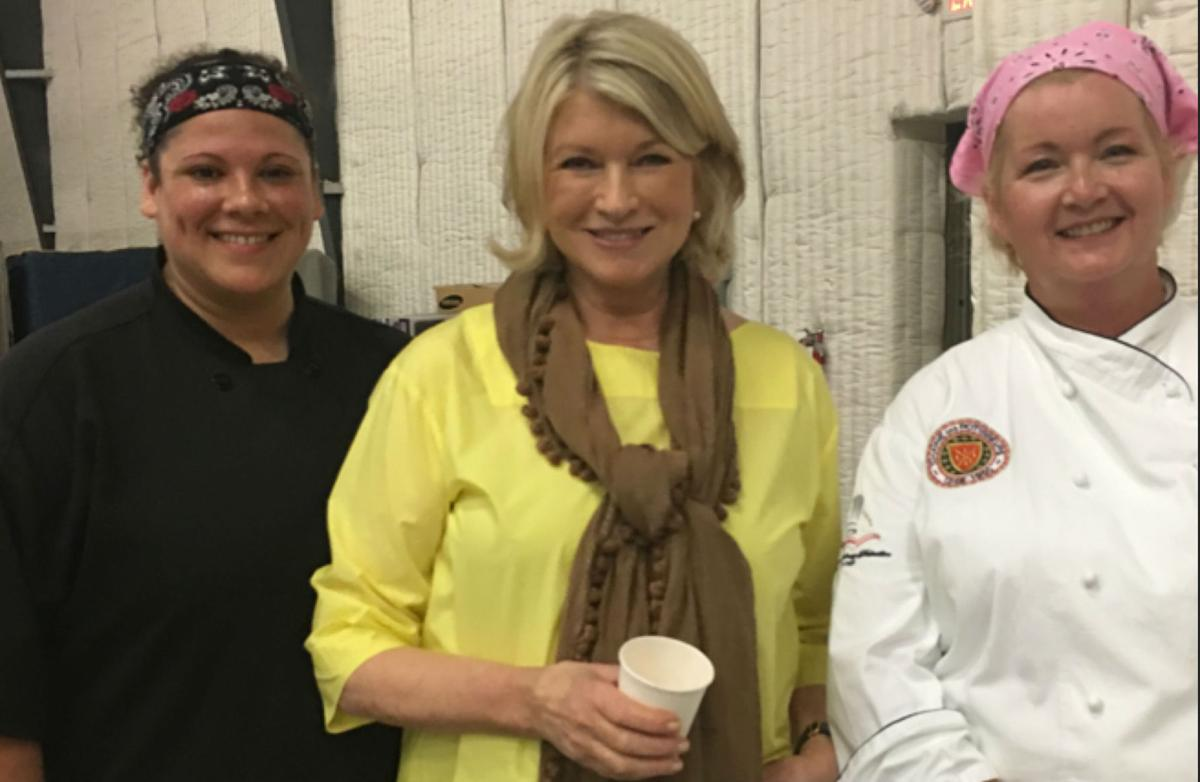 Martha Stewart and caterers
