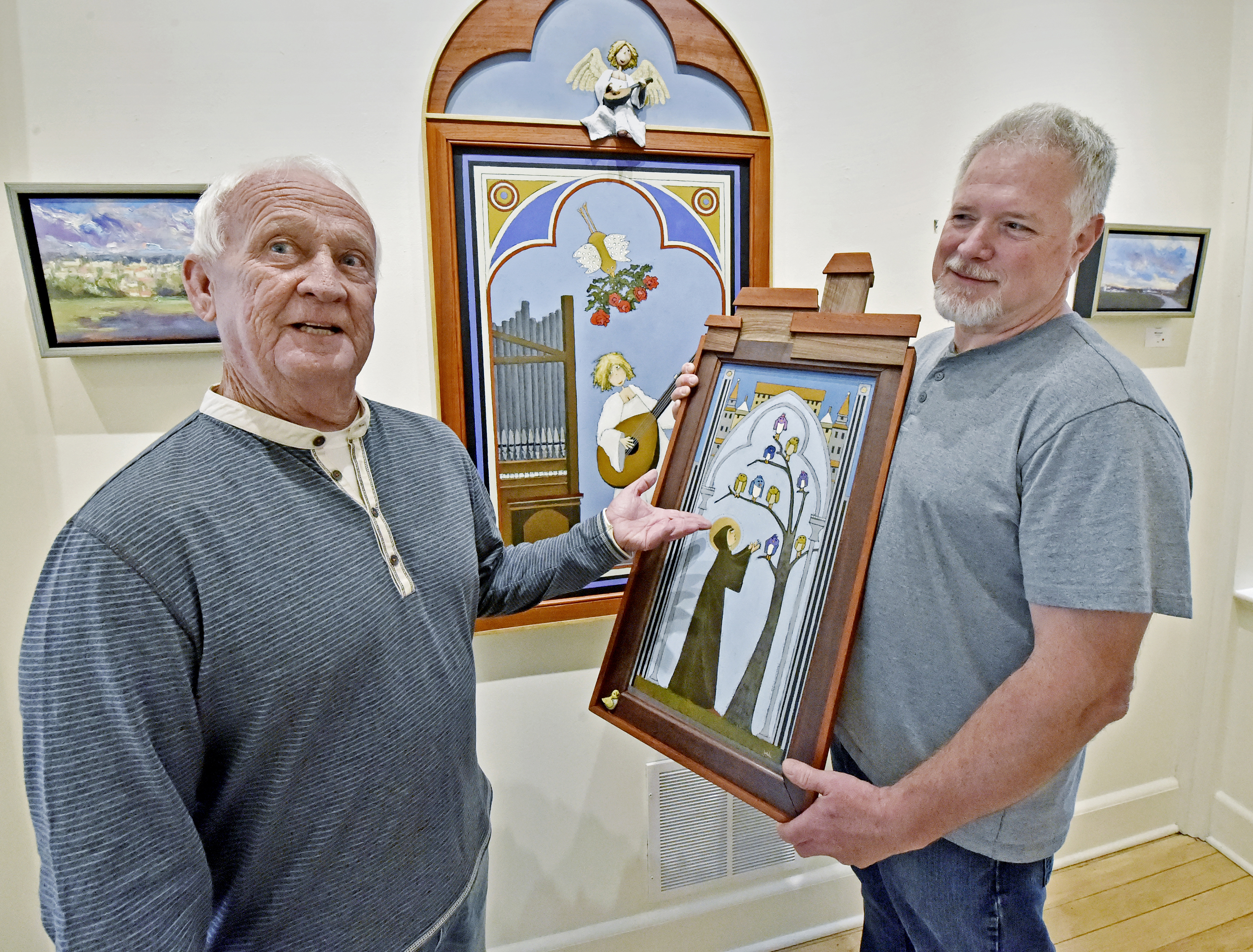Saints And Their Stories On Display At Red Raven Art Co In Collaborative Show With Fred Rodger And Mark Dennis Entertainment Lancasteronline Com