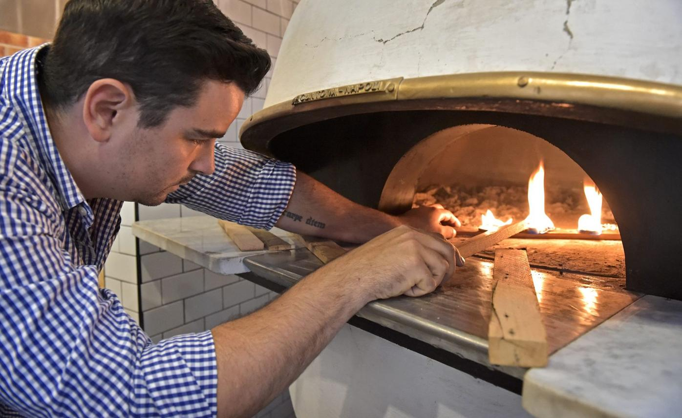 Taylor Mason with Luca wood oven
