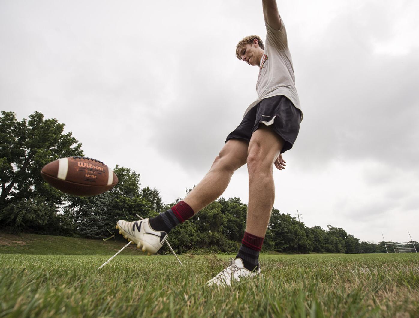 Kicker Sam Hershey-McCaskey Football