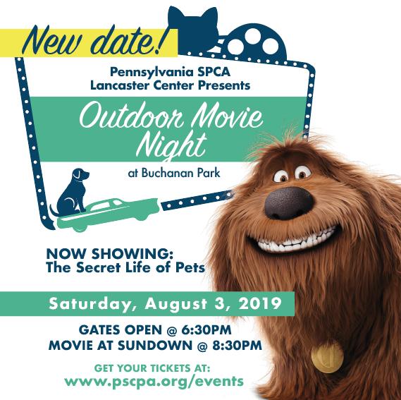 Lancaster Outdoor Movie Night - The Secret Life of Pets