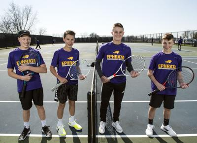 Brothers at Play in LL Boys Tennis