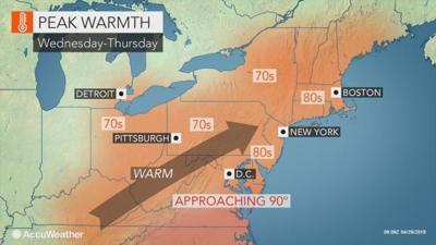 May kicks off with a sunny, high in mid-70s day in Lancaster