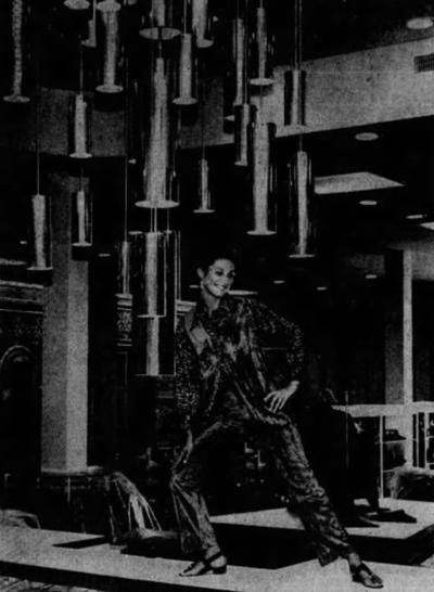 Miss Pennsylvania at Watt & Shand opening, 1970