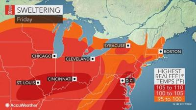 Friday's heat in Lancaster County