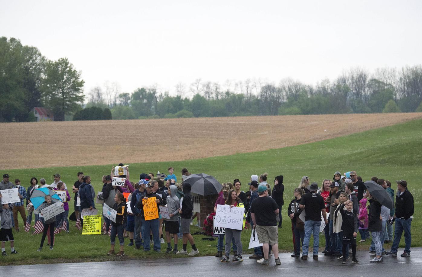 Anti-Mask Protest-Solanco School District
