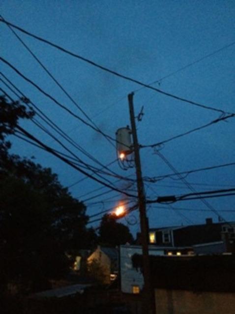 High Power Use Sparks Utility Pole Fire In City