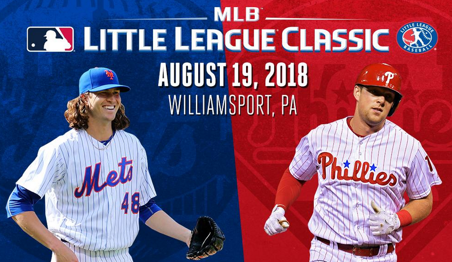Mets-Phillies to play game next August in Williamsport, Pa.