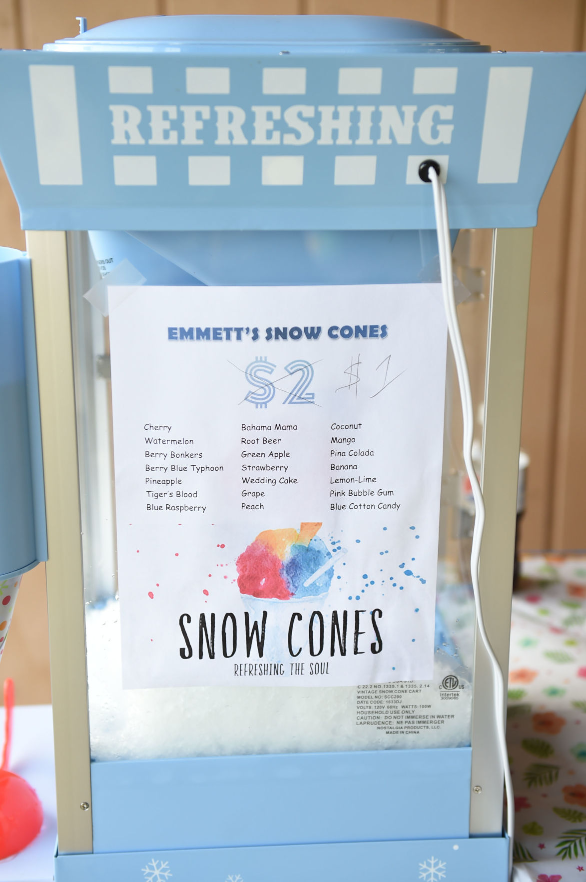 snow cone dating
